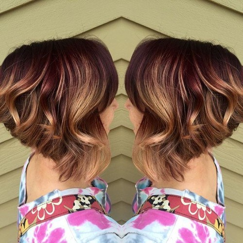Angled cut with warm hues
