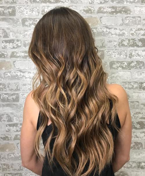 Bronze metallic hair