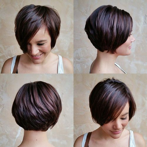 Long layered pixie bob