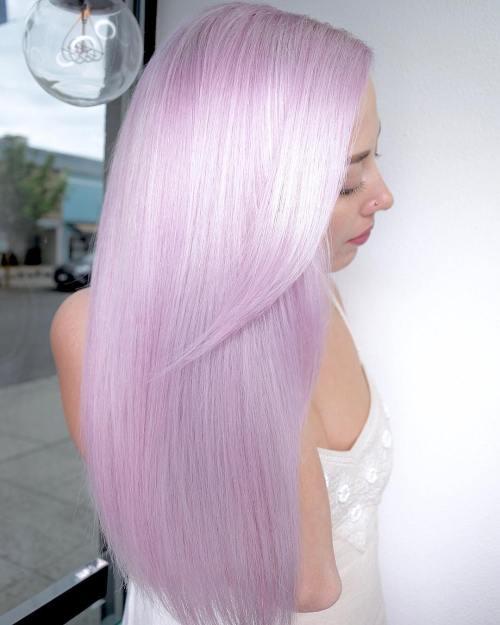 Metallic pink hair