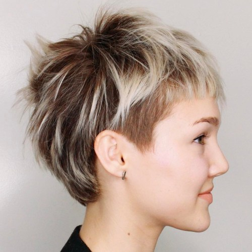 Pixie with temple undercut