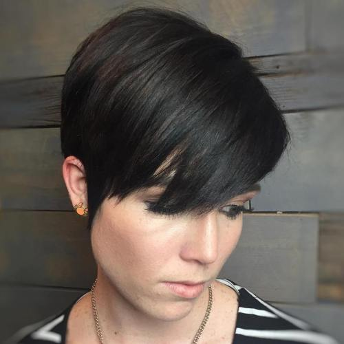 Polished Brunette Pixie