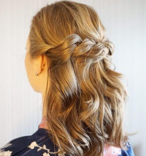 Rope braid for medium hair
