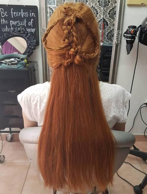 Sansa stark braided half updo