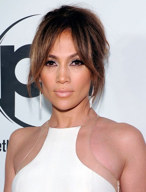 jennifer lopez Face Framing Bangs
