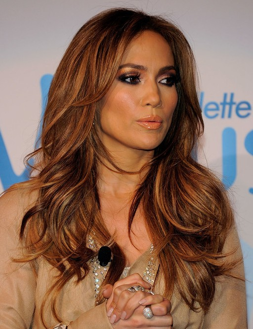 jennifer lopez Long and Layered