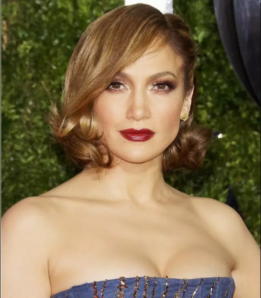 jennifer lopez curly short hair
