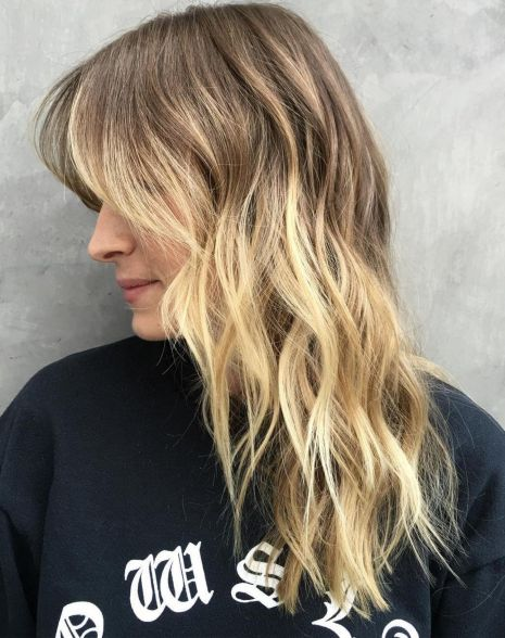 Bronde shag haircut for longer hair