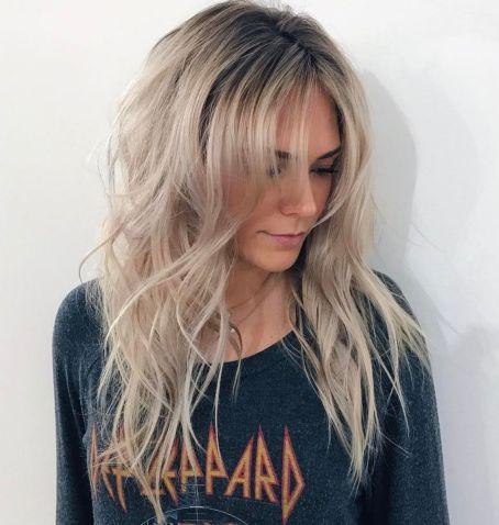 Choppy haircut with bangs for long hair