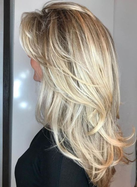 Long Tousled with V cut Layers
