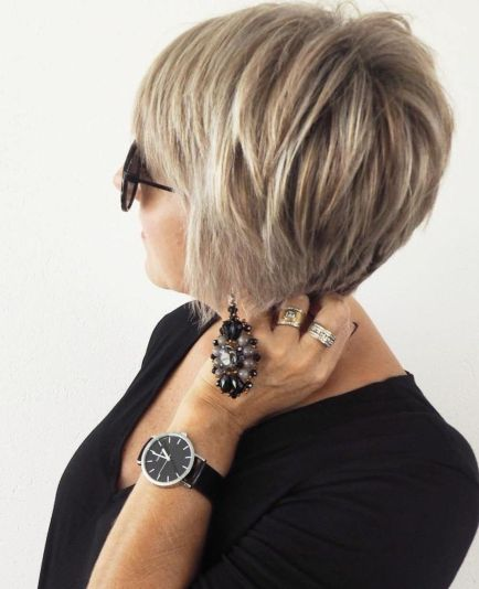Over 50 long ash blonde pixie