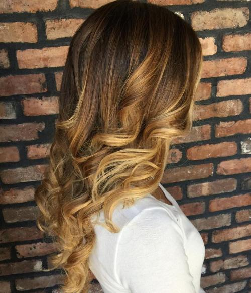Honey caramel balayage