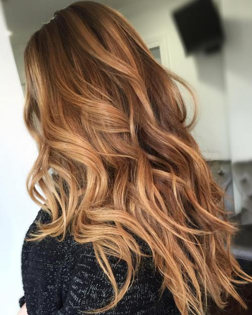 Long caramel brown hair