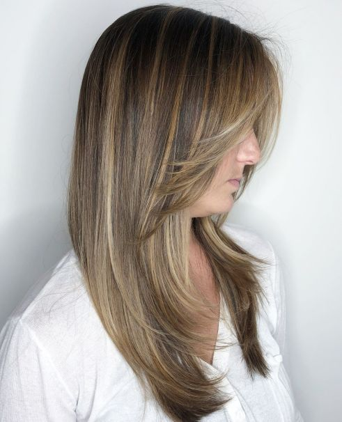 Long frontlayered haircut