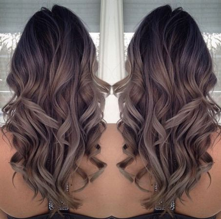 Long hairstyle with sophisticated ombre