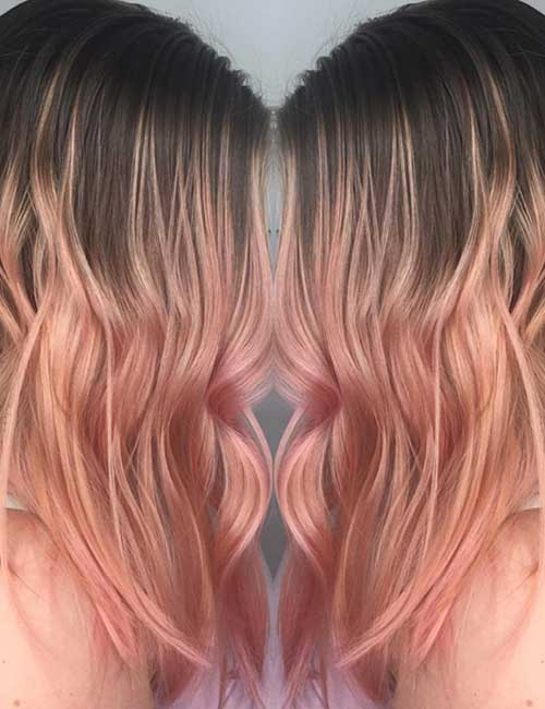 Rose Gold Melt balayage