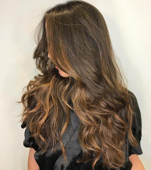 Sun kissed balayage for long hair