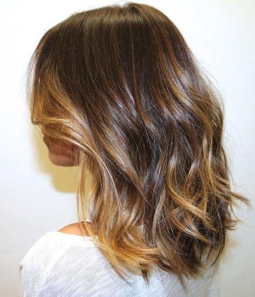 Lob Style for Mid Length Curly Hair