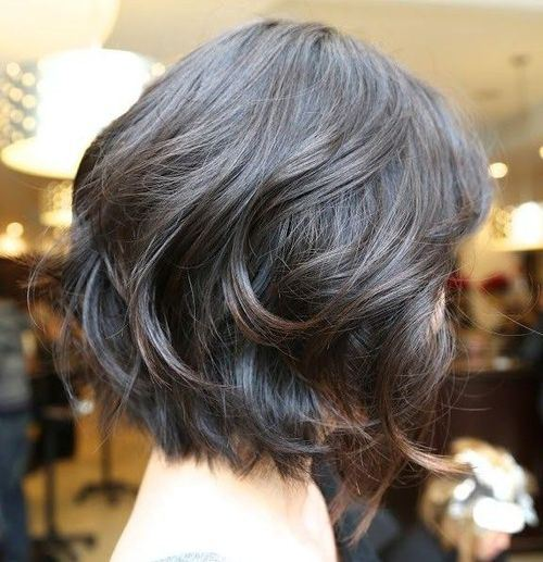 Medium Curly Bob Hairstyle with Fabulous Volume