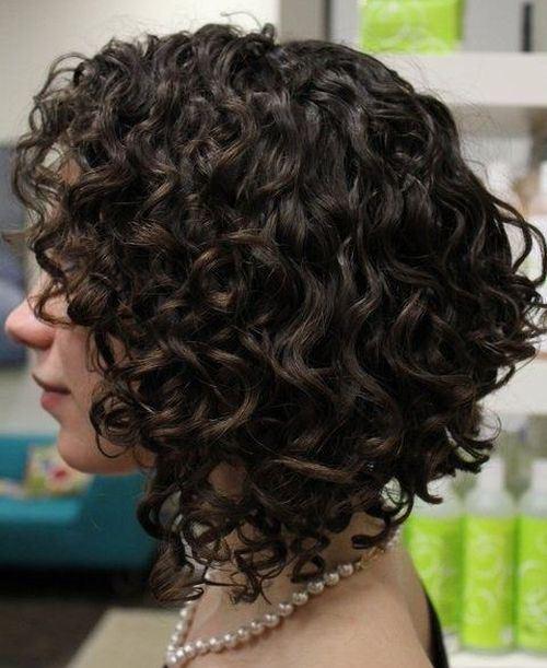 Medium Curly Bob Hairstyle