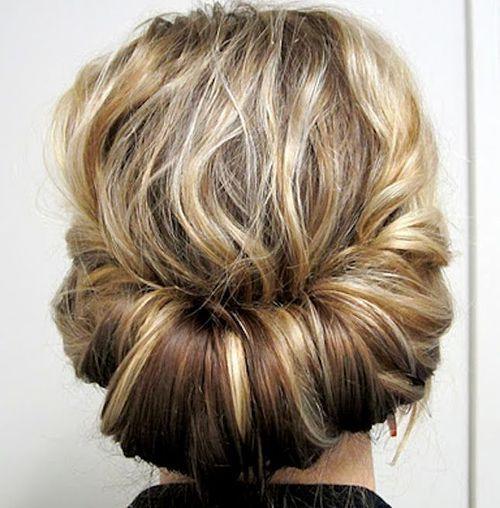 Medium Curly Updo hairstyle