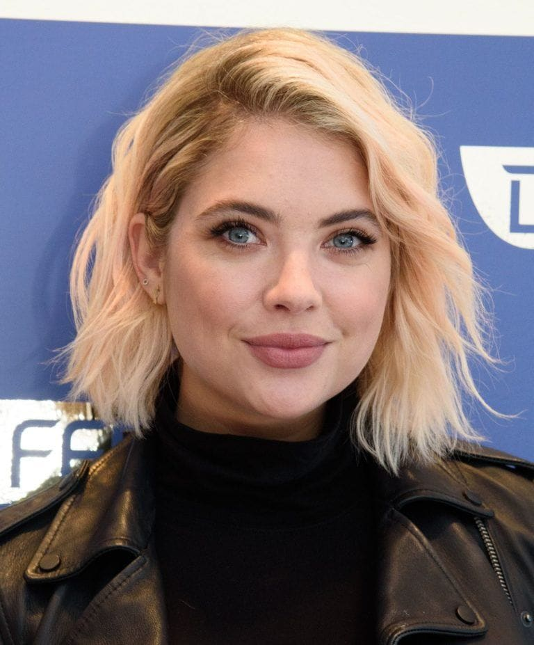 ashley benson short curly haircuts for round faces