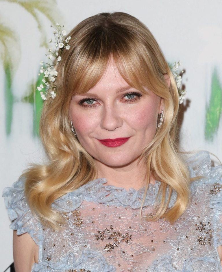 kirsten dunst short curly haircuts for round faces