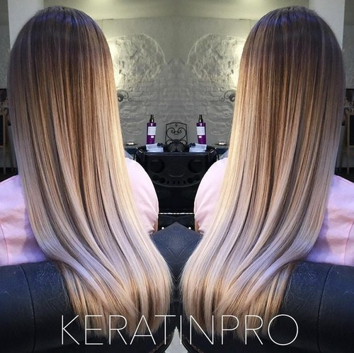 Blunt Haircut For Straight Hair And Ombre