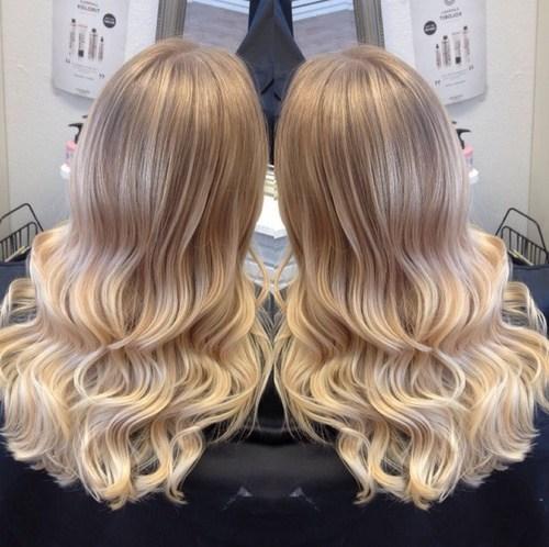 Bright Blonde Curls