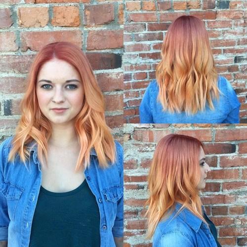Long reddish brown curls