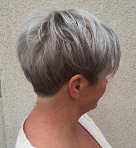 Short ash blonde and silver