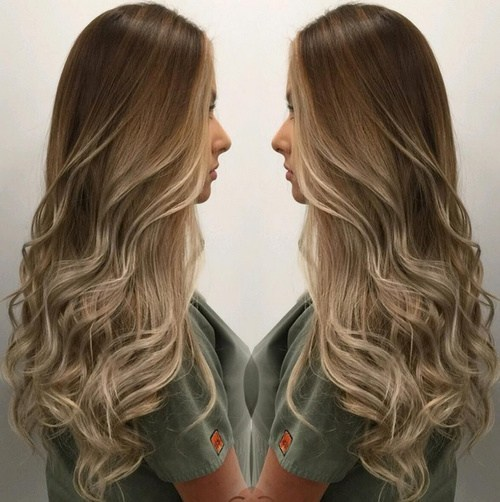 Soft Brown Blonde Waves