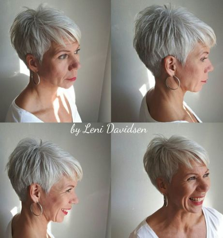 Tapered silver pixie