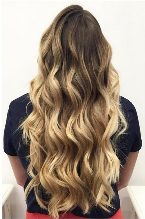 Waist Length Ombre Curls