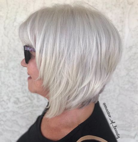white bob with bangs