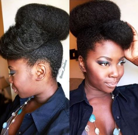 Big bun for natural hair