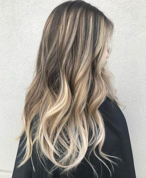 Blonde balayage for brunettes