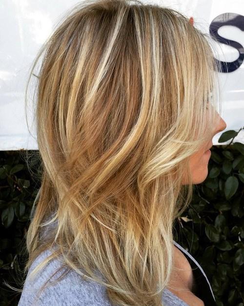 Brown blonde balayage hair