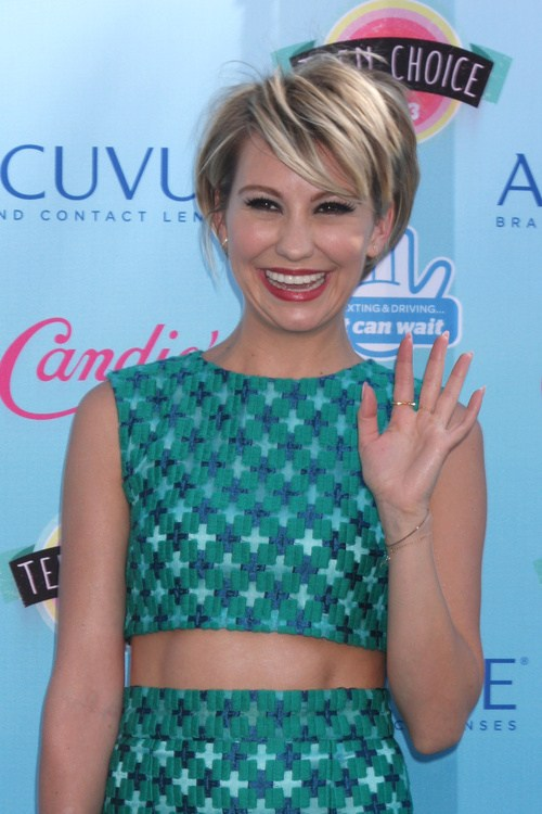 Chelsea kane's sharply angled layered bob