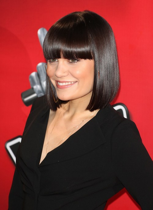 Dramatic bob with bangs from jessie j