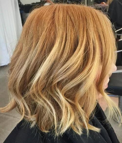 Light caramel blonde hair