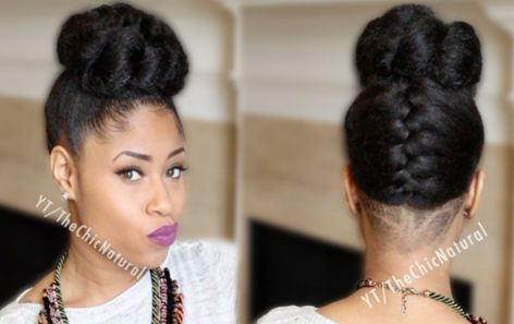 Reverse french braid with faux bun updo