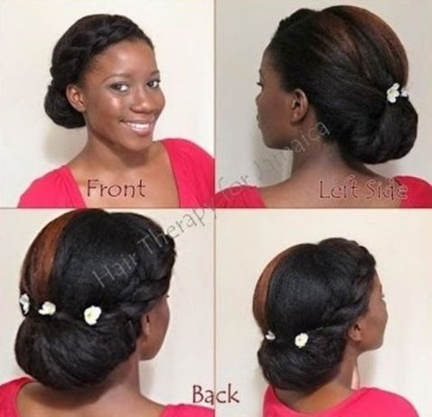 Side fro updo hairstyle