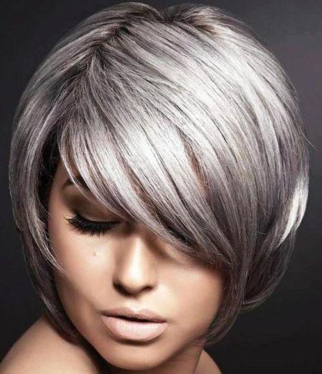 Silver bob hairstyle