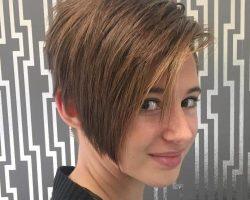 Teenage girls pixie bob haircut