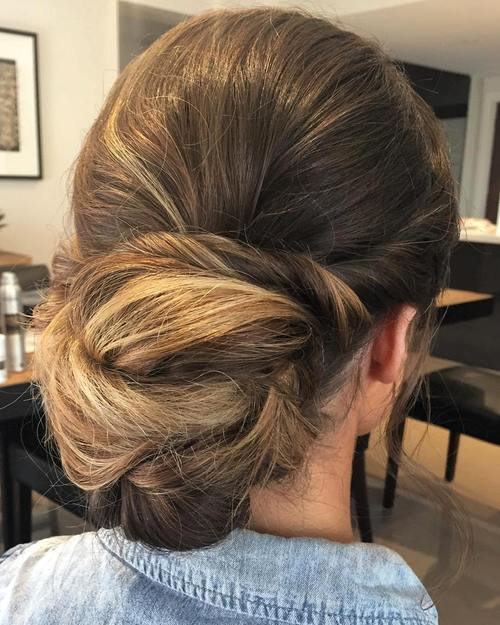 Twisted chignon for teen girls