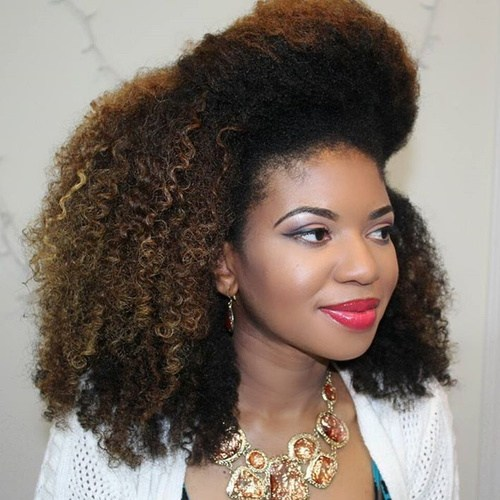 Medium natural hairstyle
